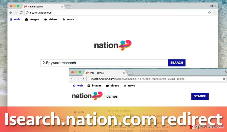 Isearch.nation.com hijacks Chrome