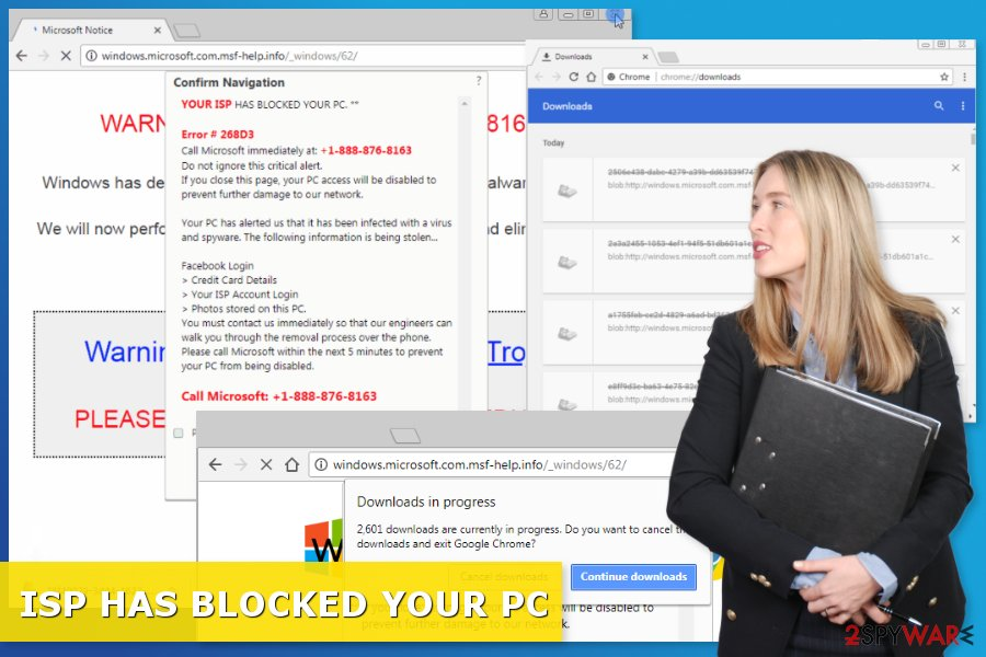 """""""ISP HAS BLOCKED YOUR PC"""" scam"""