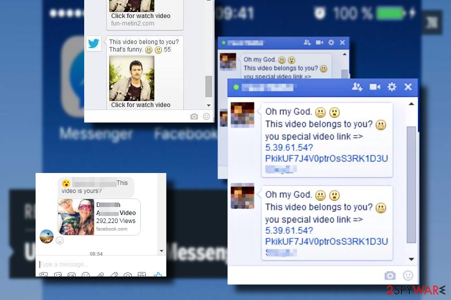 """Is that you"" Facebook virus message"