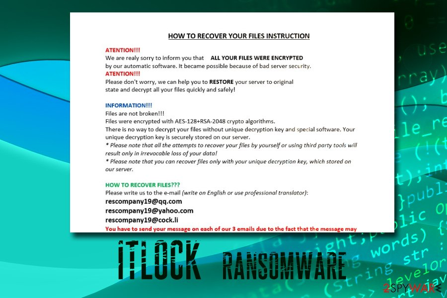 ITLOCK ransomware