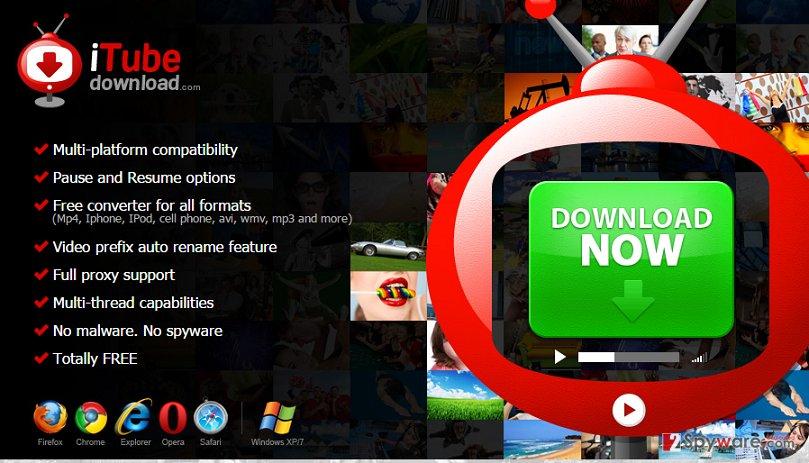 iTube download adware snapshot