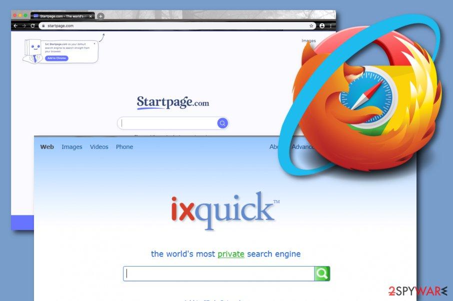 Ixquick.com browser hijacker