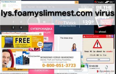 Image of the Iys.foamyslimmest.com virus