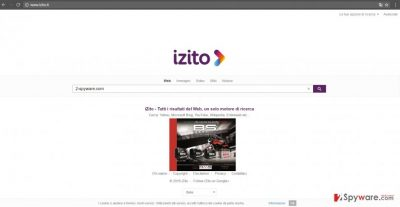 The example picture of izito.it hijacker