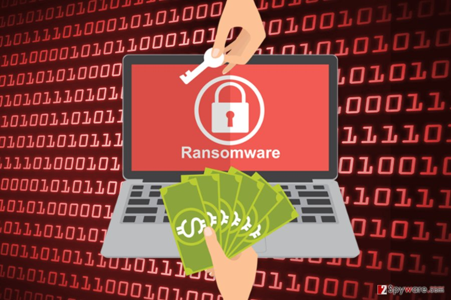 The picture of J ransomware