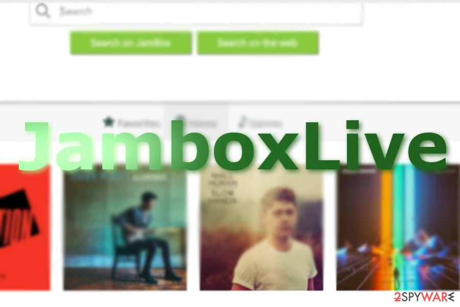 The image displaying JamBoxLive home page