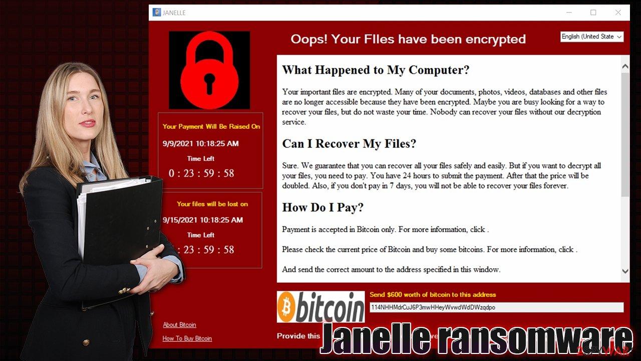 Janelle ransomware virus