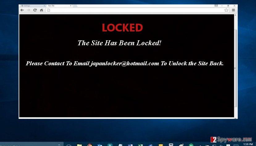The example of JapanLocker virus