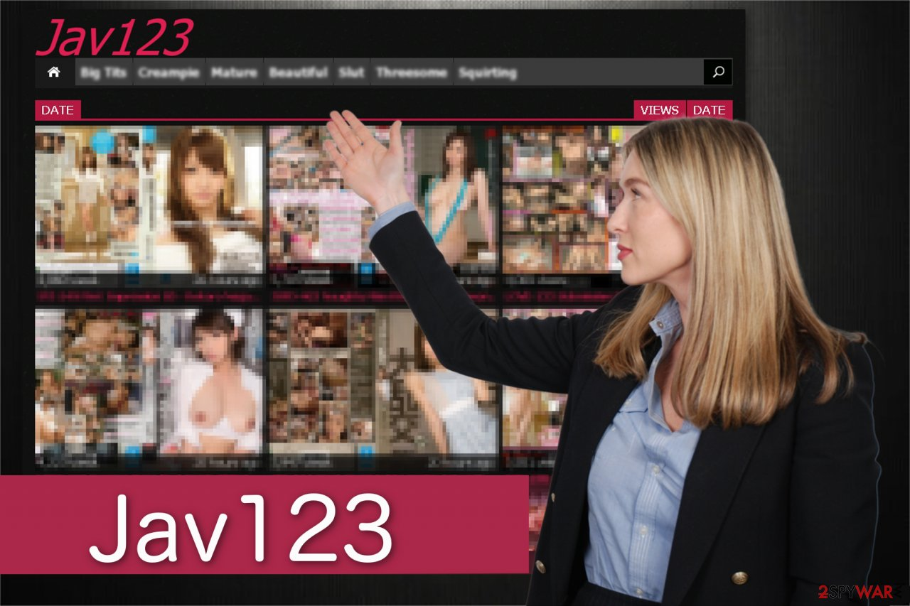 Jav123 redirect screenshot