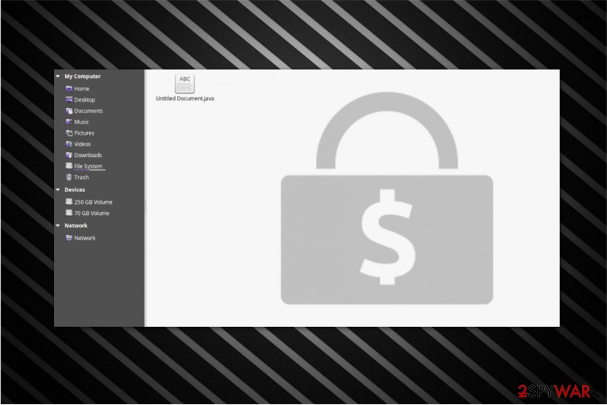 .java file extension ransomware image