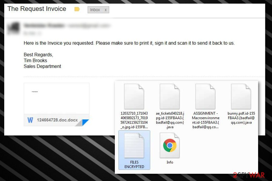 .java file extension ransomware Tim-Brooks malspam