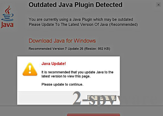 Java Update! snapshot