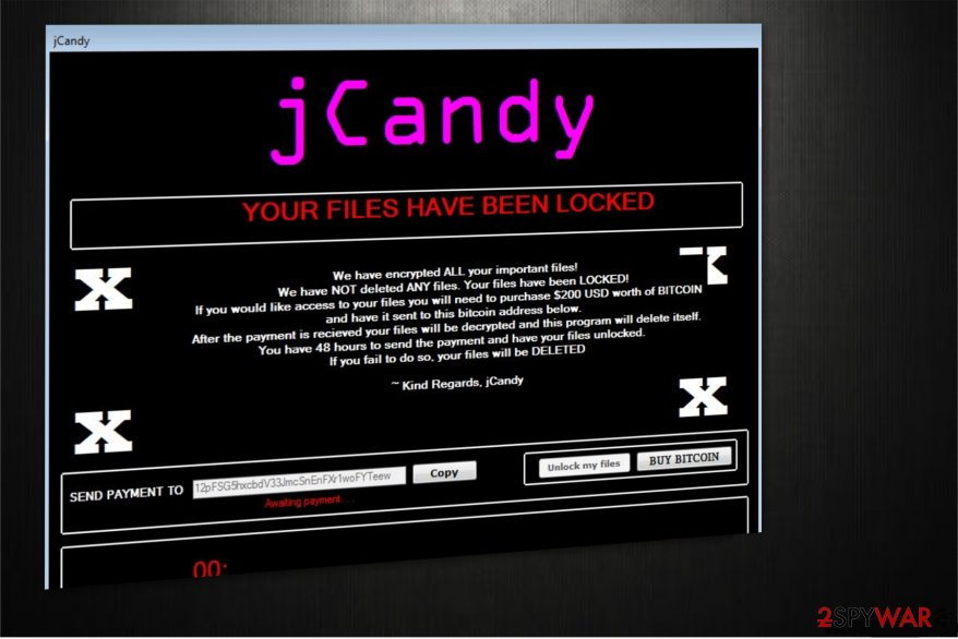 jCandy ransomware illustration