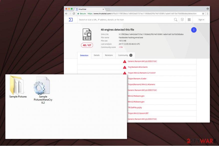 JCoder ransomware virus image