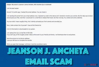 Jeanson J. Ancheta email scam virus