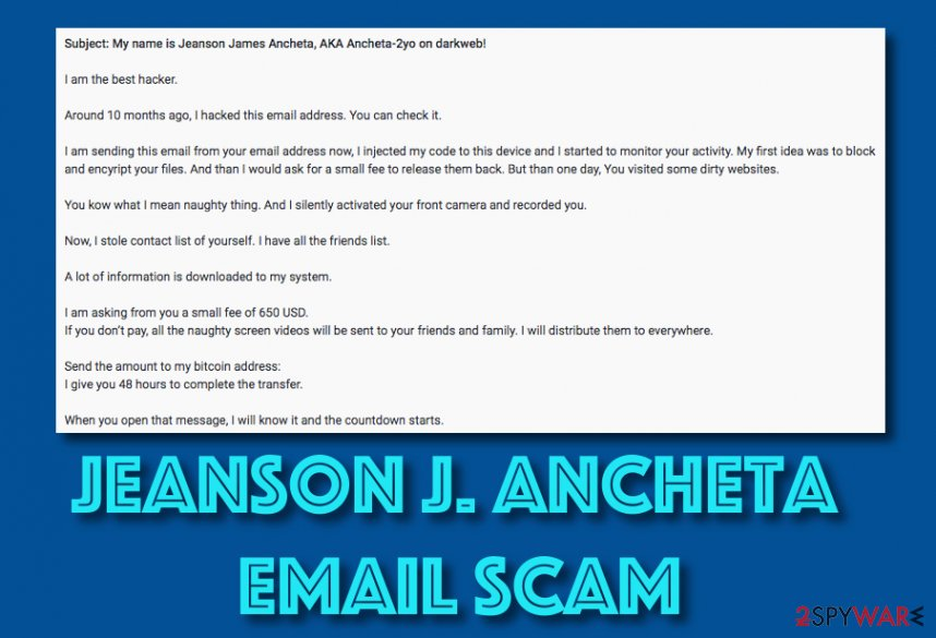 Jeanson J. Ancheta email scam