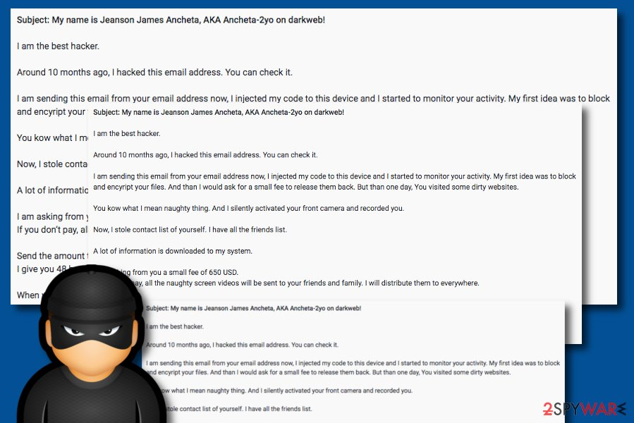 Jeanson J. Ancheta email scam SPAM tool