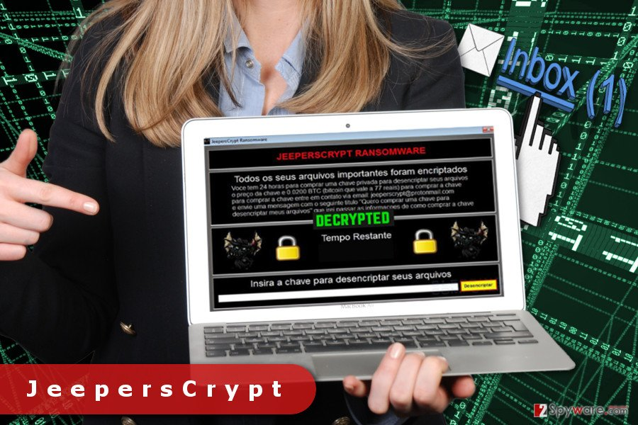 The picture of JeepersCrypt ransomware virus