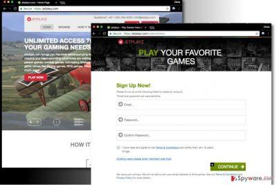 Jetplayz.com ads