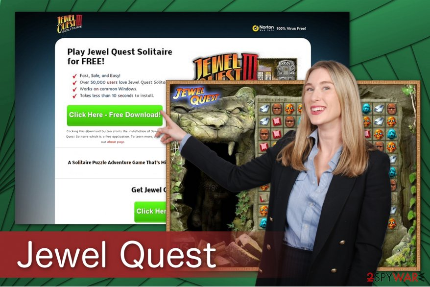 The illustration of Jewel Quest ads