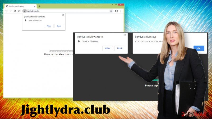 Jightlydra.club redirects
