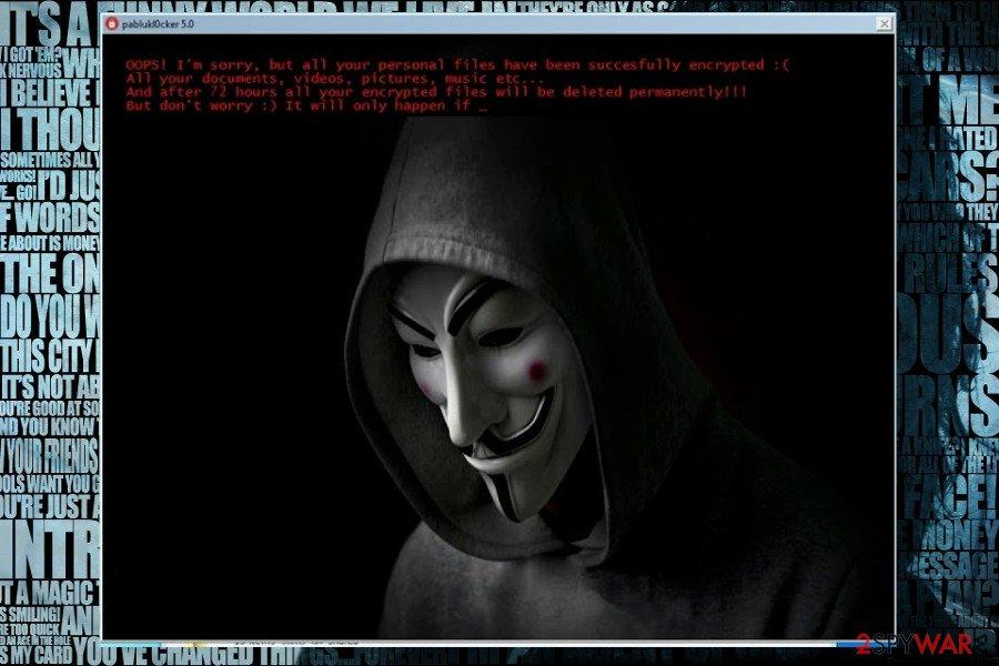 Jigsaw ransomware virus image