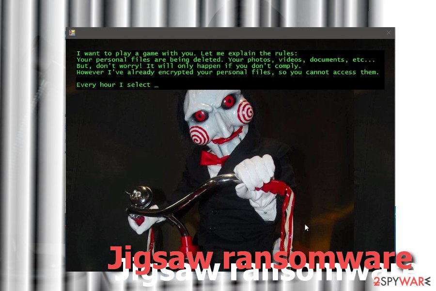 Jigsaw virus version example