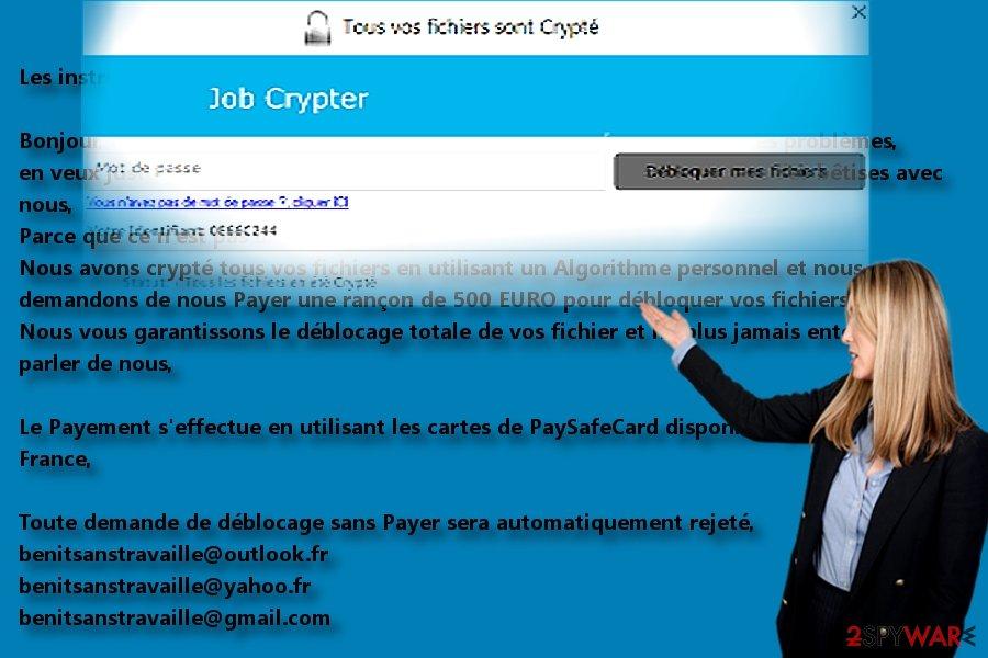 The screenshot of JobCrypter