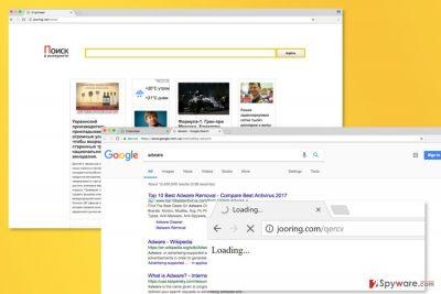 Example of Jooring.net virus