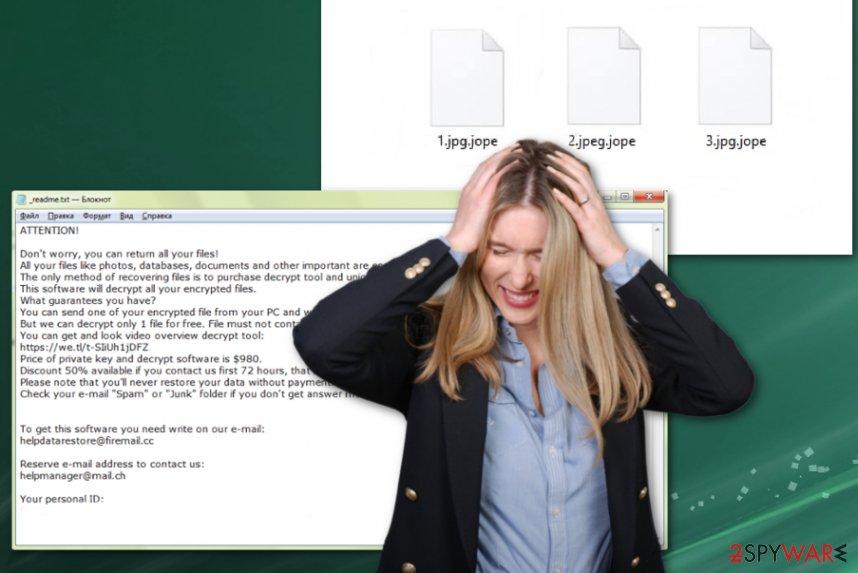 Jope ransomware virus