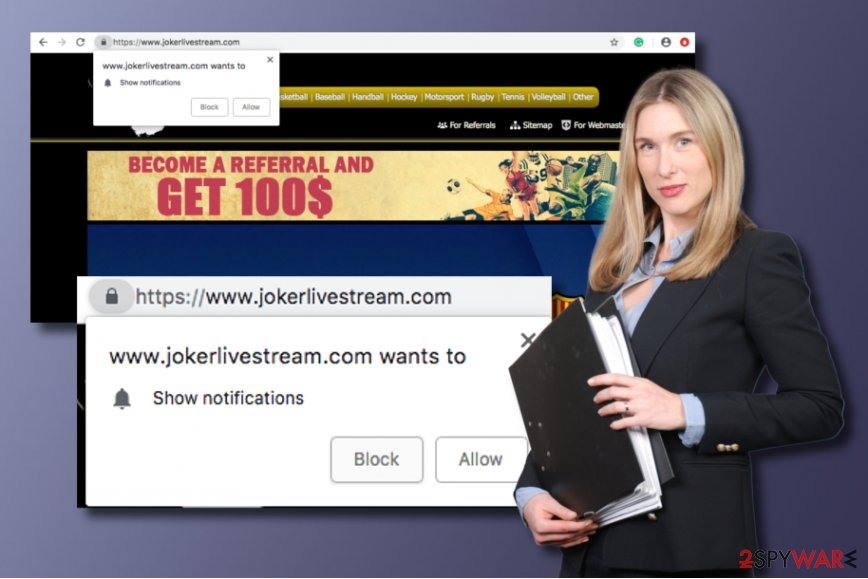 Jokerlivestream.com potentially unwanted application