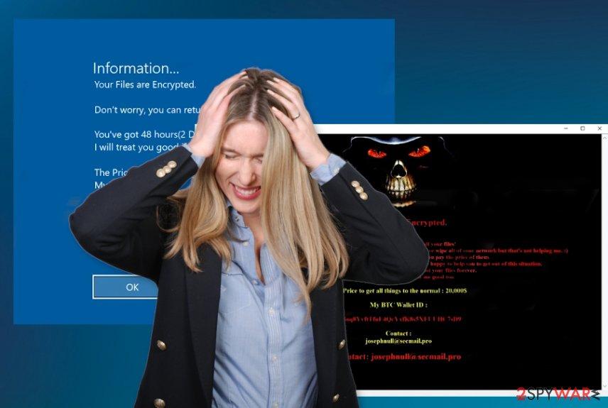 Josephnull ransomware virus