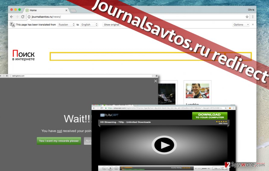 Journalsavtos.ru redirect virus is highly annoying