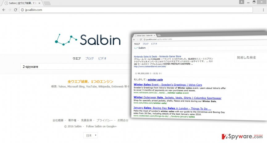 The picture of Jp.salbin.com virus