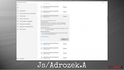 Js/Adrozek.A malware