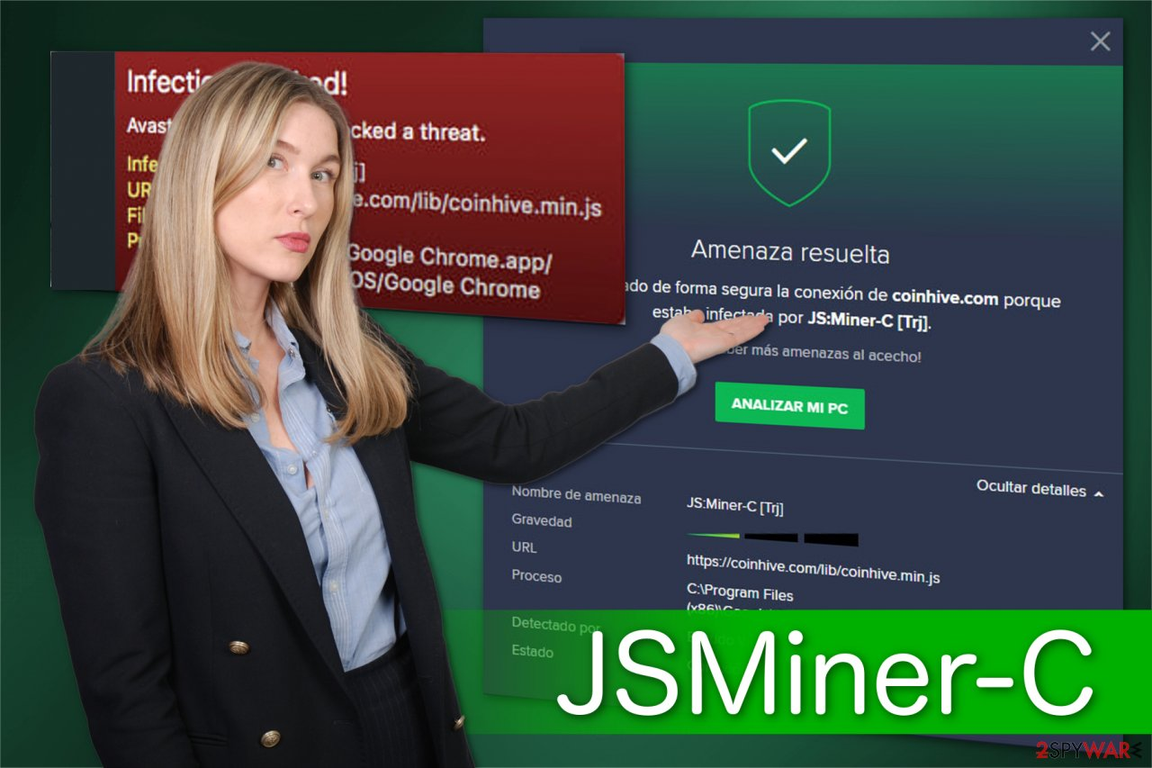 The illustration of JSMiner-C malware