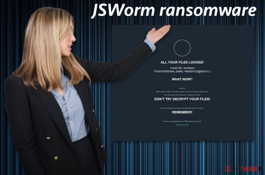 JSWorm ransomware virus