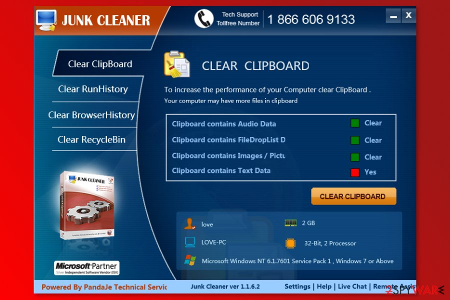 The image of Junk Cleaner program