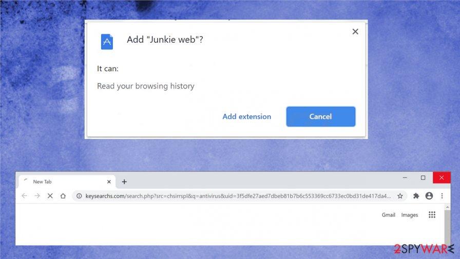 Junkie web virus