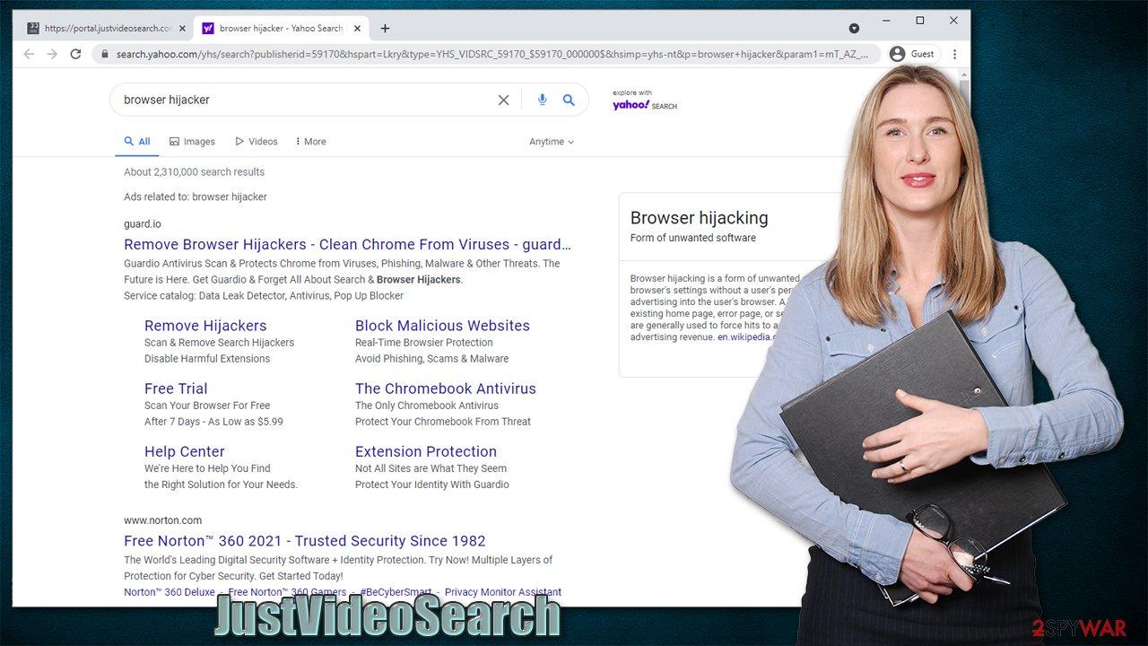 JustVideoSearch virus