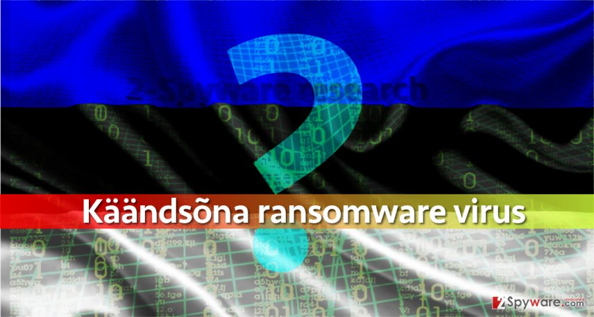 Is Kaandsona ransomware developed by an Estonian programmer?