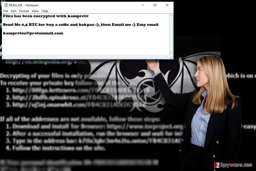 Kampret malware example