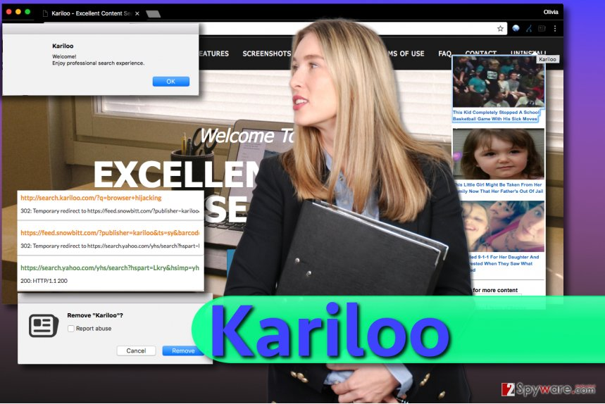 Kariloo redirect virus