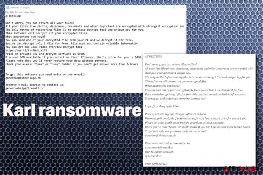 Karl ransomware