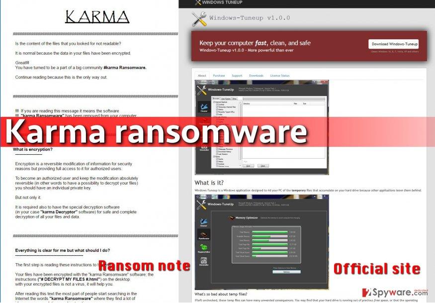 Karma virus pretends to be a PC optimizer