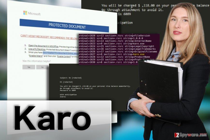 Karo ransomware virus illustration