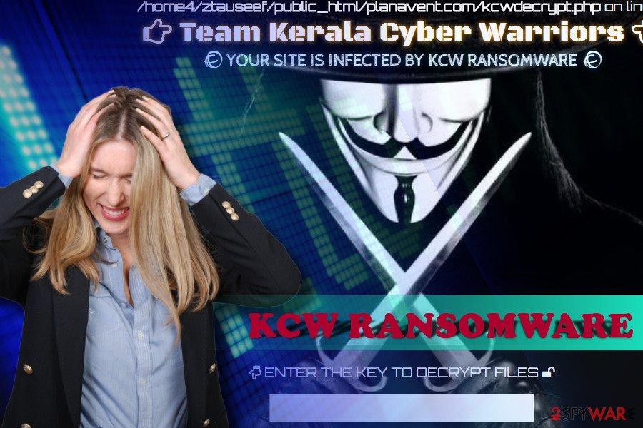KCW ransomware encrypts websites