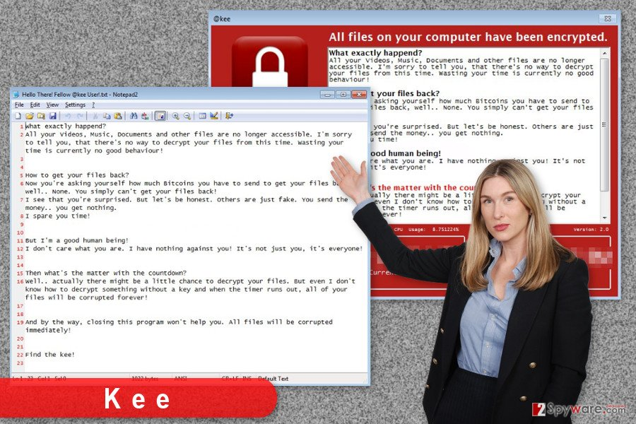 The image of Kee ransomware virus