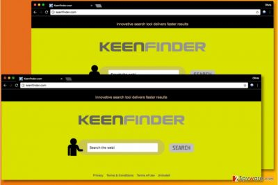 The suspicious KeenFinder.com search engine