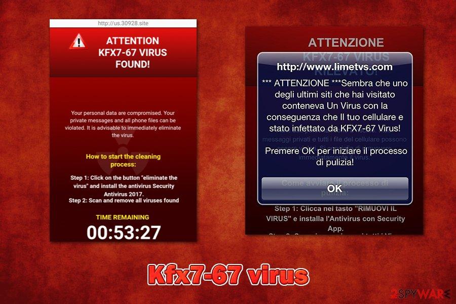 Kfx7-67 virus scam